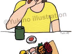 寿司すし食べるイラスト