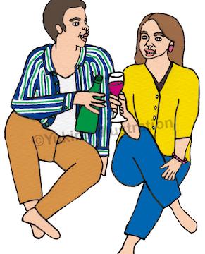 酒ワインビール飲むイラスト
